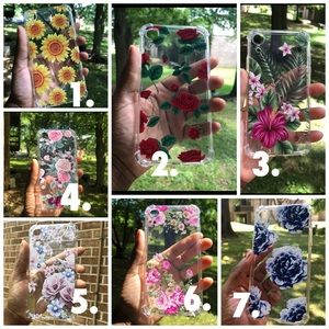 IPhone XR clear floral shockproof case